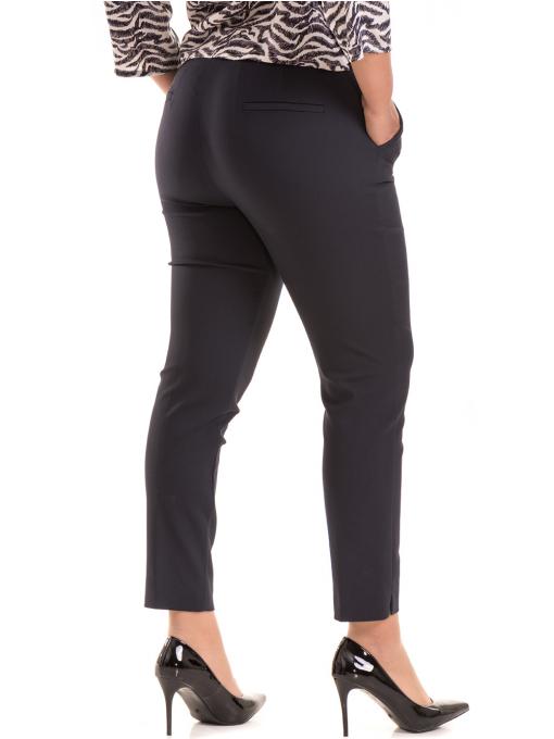 Дамски елегантен панталон F.L.M с колан 527 - тъмно син B