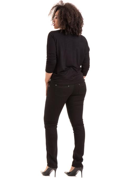 Дамски елегантен панталон F.L.M с колан 531 - черен E