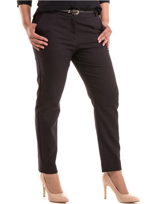 Дамски елегантен панталон F.L.M с колан 531 - черен