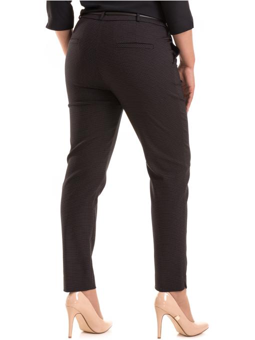 Дамски елегантен панталон F.L.M с колан 531 - черен B
