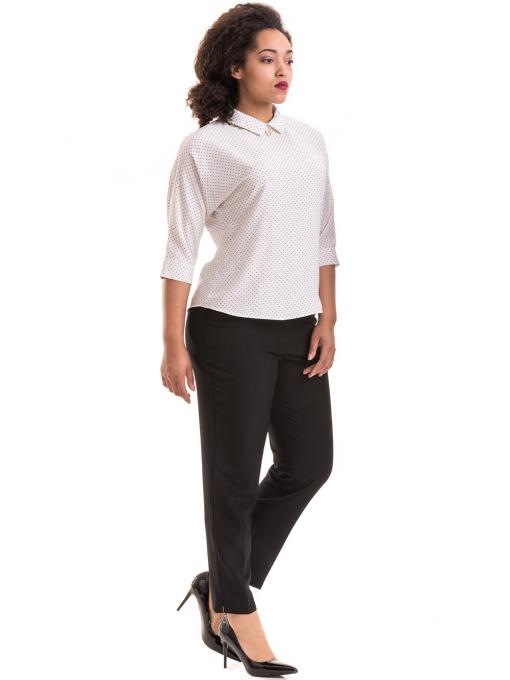 Елегантен дамски панталон F.L.M с колан 533 - черен C