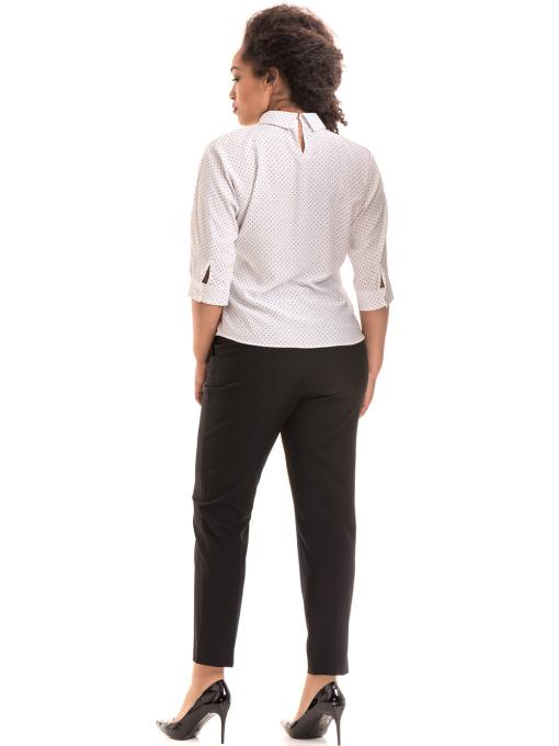 Елегантен дамски панталон F.L.M с колан 533 - черен E