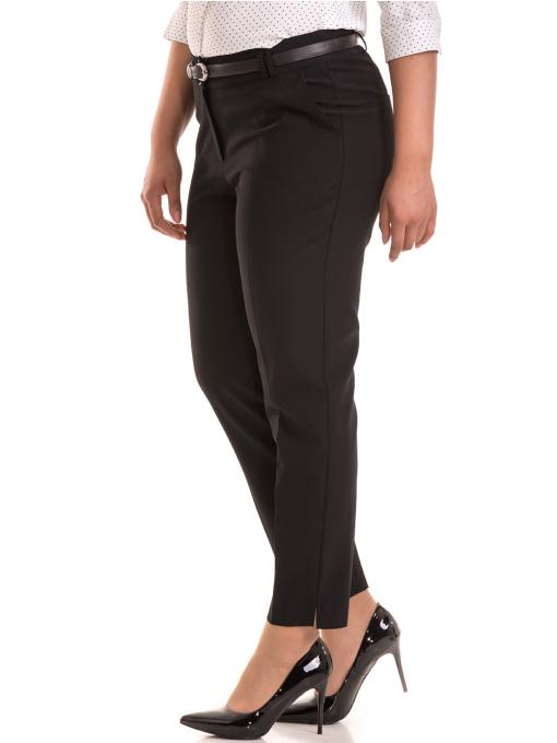 Елегантен дамски панталон F.L.M с колан 533 - черен