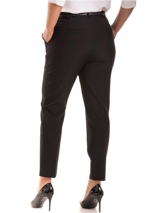 Елегантен дамски панталон F.L.M с колан 533 - черен B