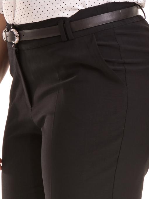 Елегантен дамски панталон F.L.M с колан 533 - черен D