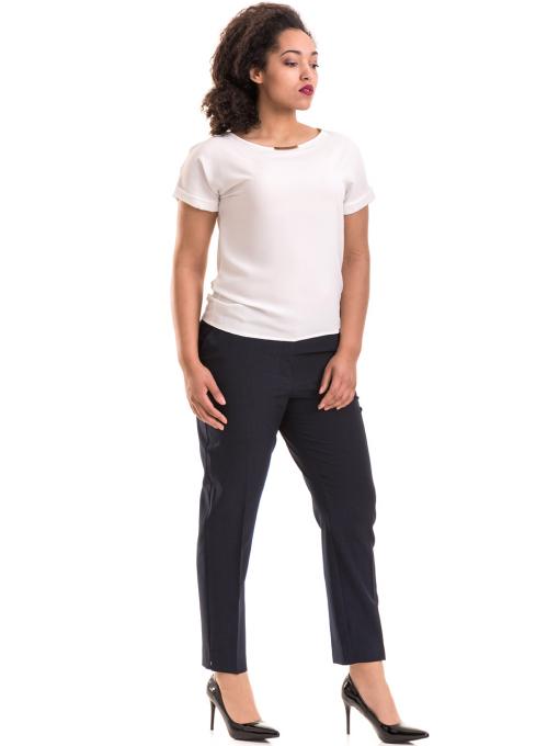 Елегантен дамски панталон F.L.M. с колан 533 - син C