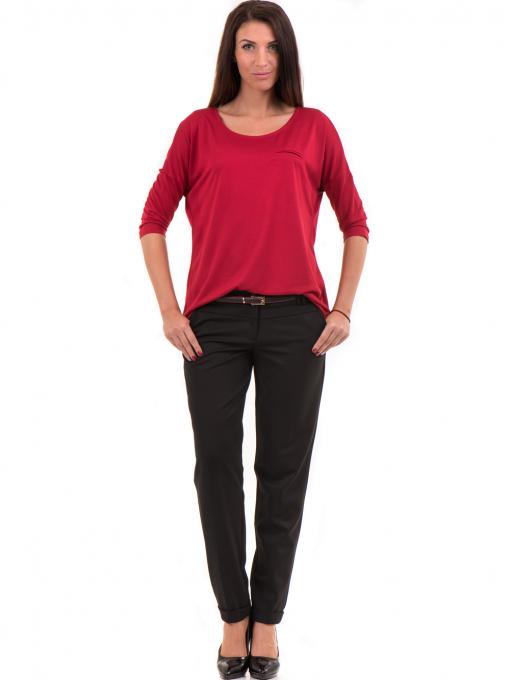 Дамски панталон F.L.M с колан 650 - черен C