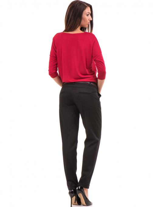 Дамски панталон F.L.M с колан 650 - черен E