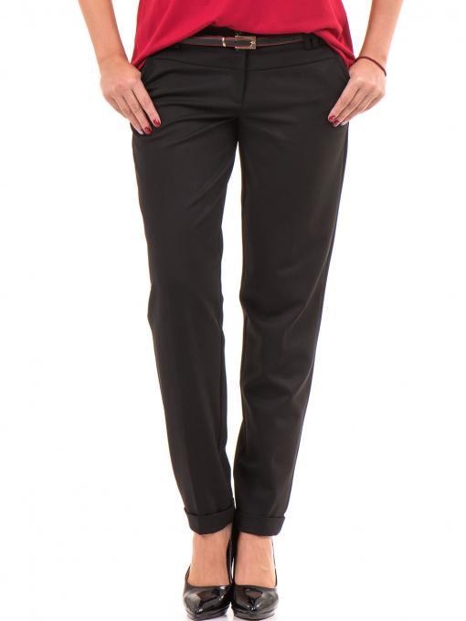 Дамски панталон F.L.M с колан 650 - черен