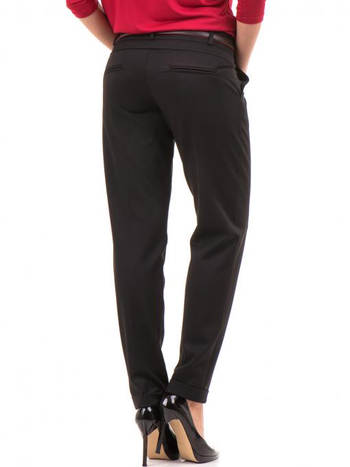 Дамски панталон F.L.M с колан 650 - черен B