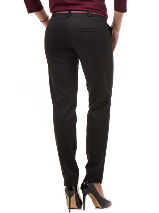 Дамски панталон F.L.M с колан 654 - черен B