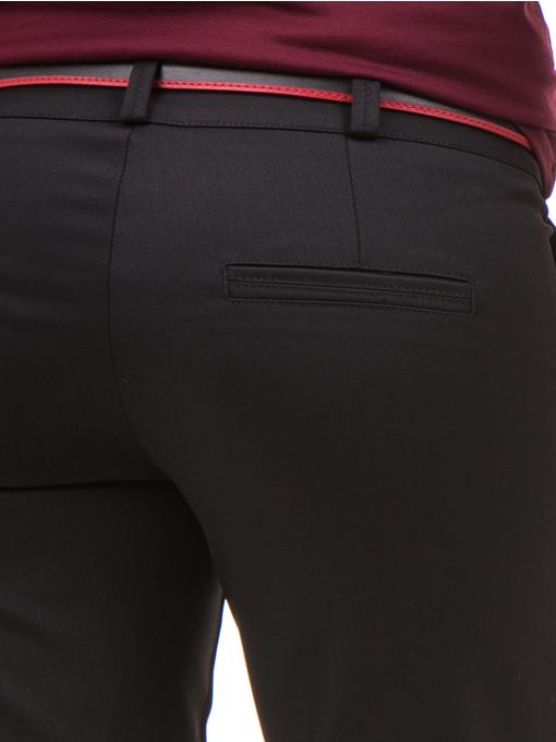 Дамски панталон F.L.M с колан 654 - черен D