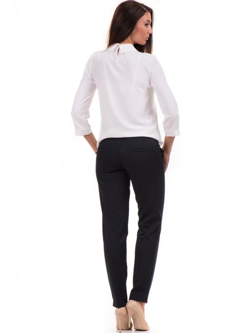 Дамски панталон F.L.M с колан 654 - тъмно син E