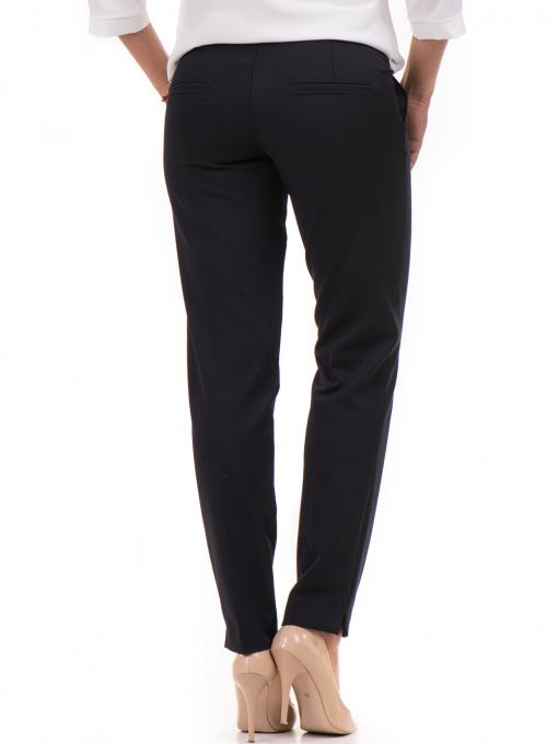 Дамски панталон F.L.M с колан 654 - тъмно син B