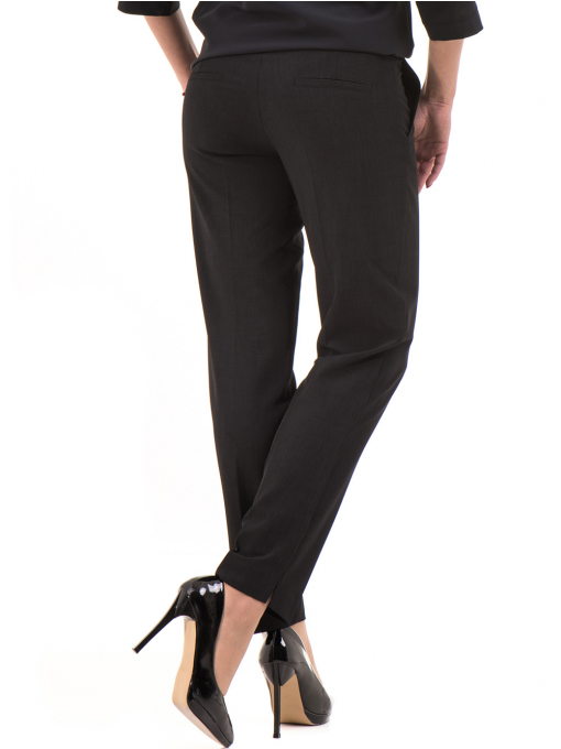 Дамски панталон F.L.M с колан 655- черен B
