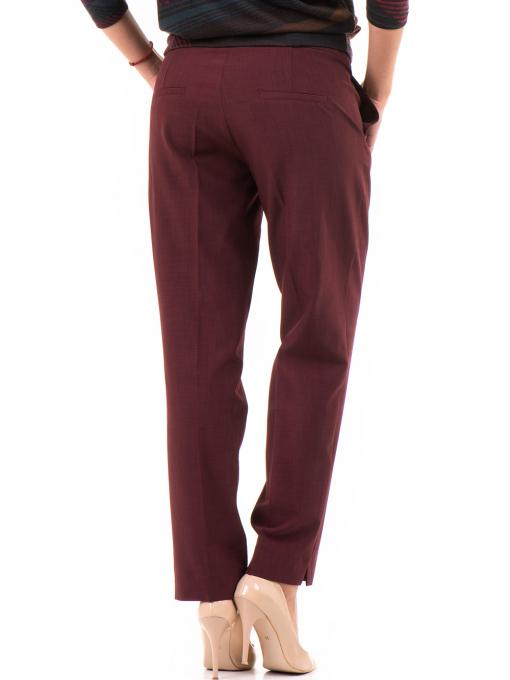 Дамски панталон F.L.M с колан - бордо B