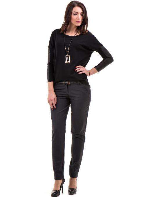 Дамски панталон F.L.M с колан 667 - антрацит C