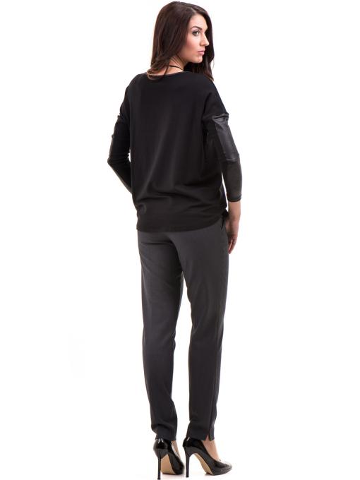 Дамски панталон F.L.M с колан 667 - антрацит E