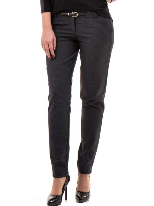 Дамски панталон F.L.M с колан 667 - антрацит