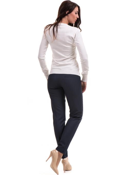 Дамски панталон F.L.M с колан 667 - тъмно син E