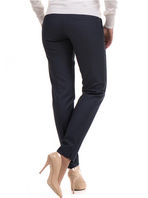 Дамски панталон F.L.M с колан 667 - тъмно син B