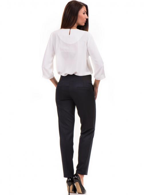 Дамски панталон F.L.M с колан 669 -  тъмно син E