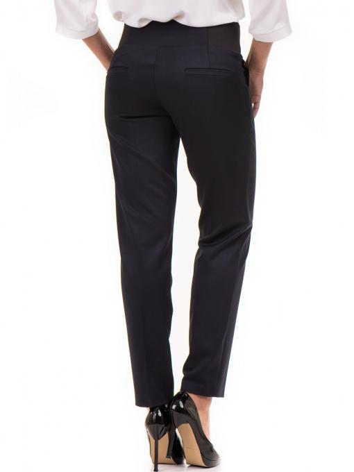 Дамски панталон F.L.M с колан 669 -  тъмно син B