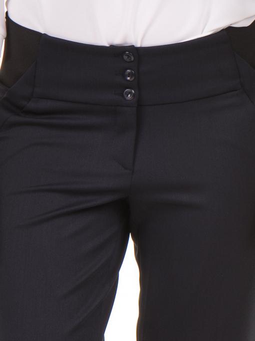 Дамски панталон F.L.M с колан 669 -  тъмно син D
