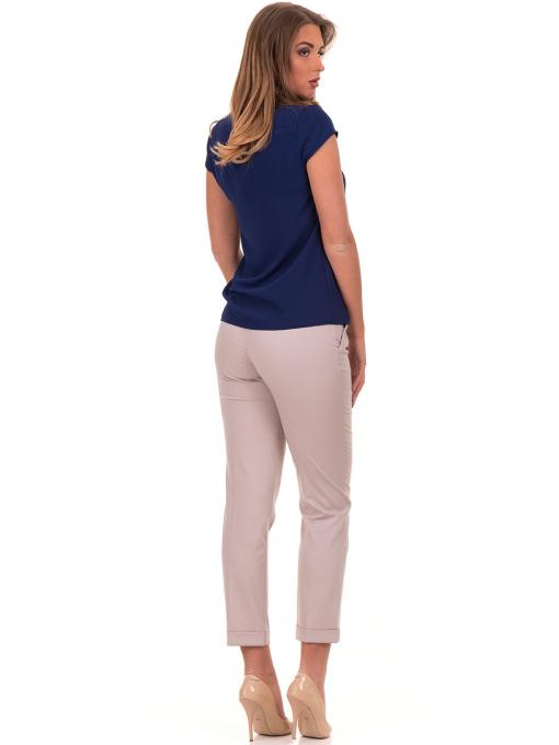 Дамски панталон F.L.M с италиански джоб и колан 712 - светло бежов E