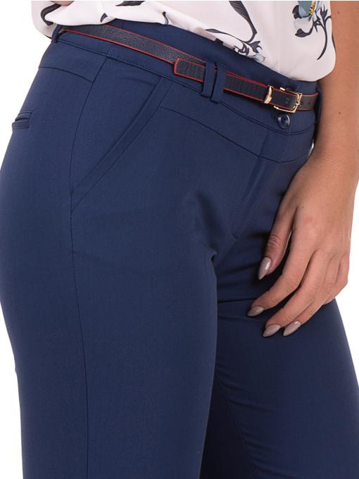 Дамски панталон F.L.M с италиански джоб и колан 712 - син D