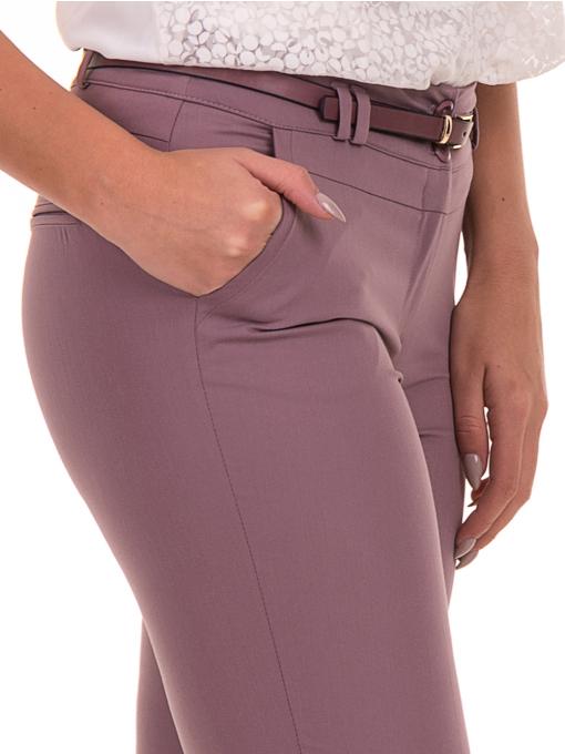 Дамски панталон F.L.M с италиански джоб и колан 712 - лилав D