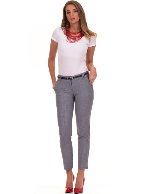 Дамски панталон F.L.M с колан 721 - син C