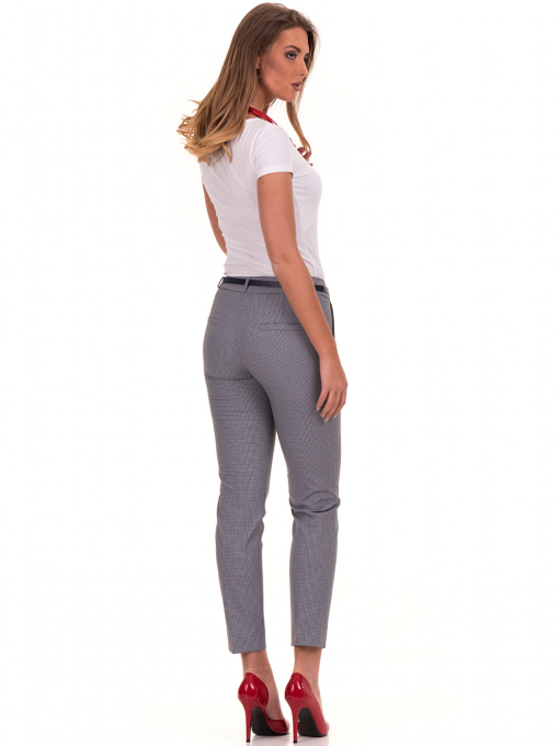 Дамски панталон F.L.M с колан 721 - син E