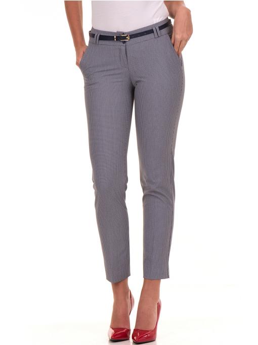Дамски панталон F.L.M с колан 721 - син