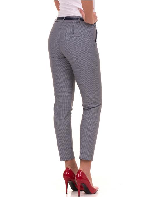 Дамски панталон F.L.M с колан 721 - син B