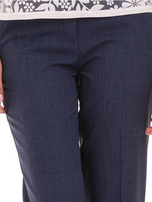 Дамски панталон F.L.M с колан 734 - тъмно син D
