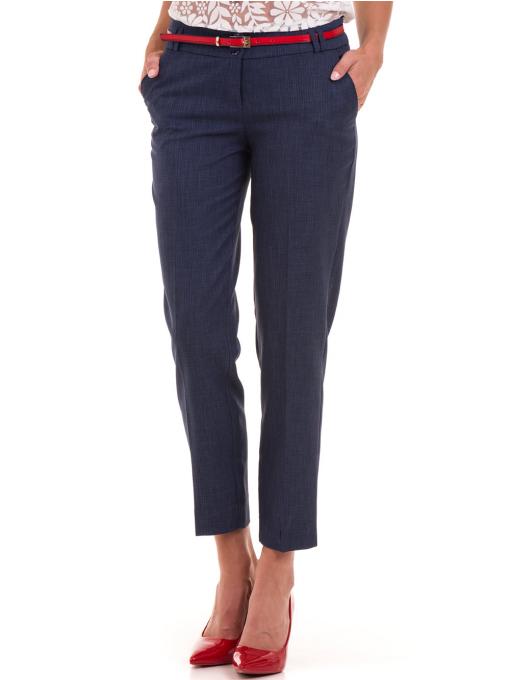 Дамски панталон F.L.M с колан 734 - тъмно син