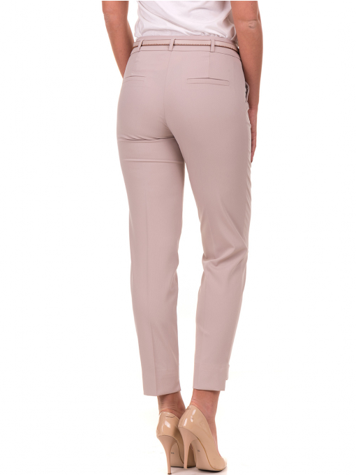 Дамски панталон F.L.M с колан 735 - светло бежов B