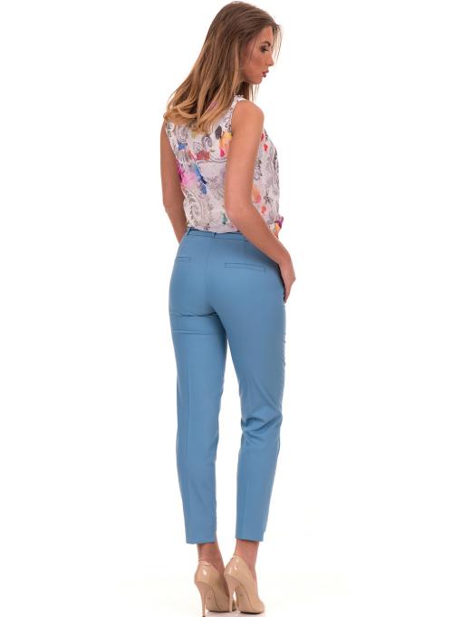 Дамски панталон F.L.M с колан 735 - светло син E