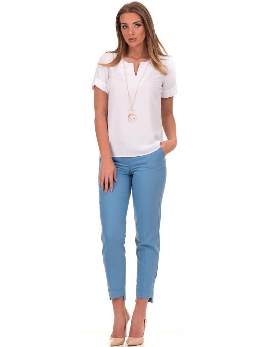 Дамски панталон F.L.M с колан 735 - светло син C