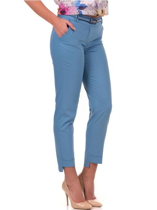 Дамски панталон F.L.M с колан 735 - светло син