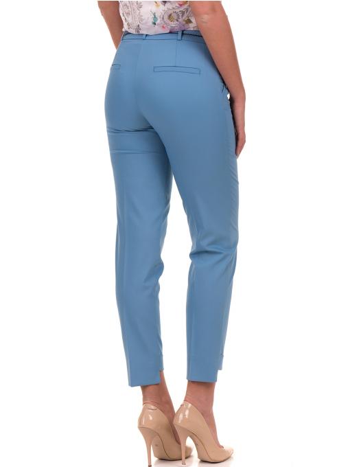 Дамски панталон F.L.M с колан 735 - светло син B