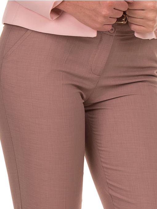 Дамски панталон F.L.M с колан 738 - тъмно бежов D