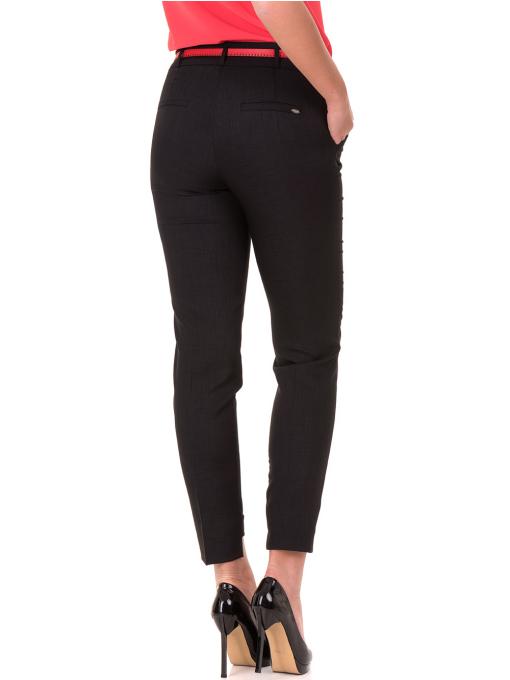 Дамски панталон F.L.M с колан 738 - черен B