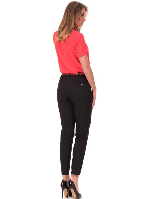 Дамски панталон F.L.M с колан 738 - черен E