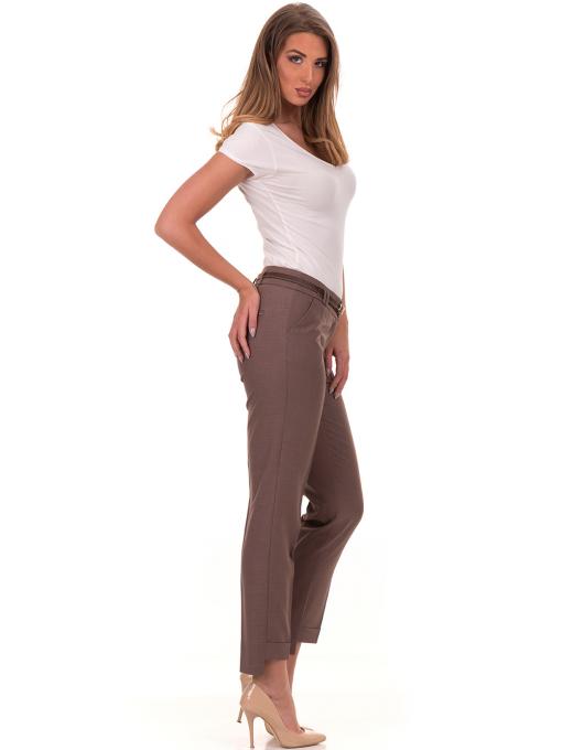 Дамски панталон F.L.M с колан 738 - цвят капучино C