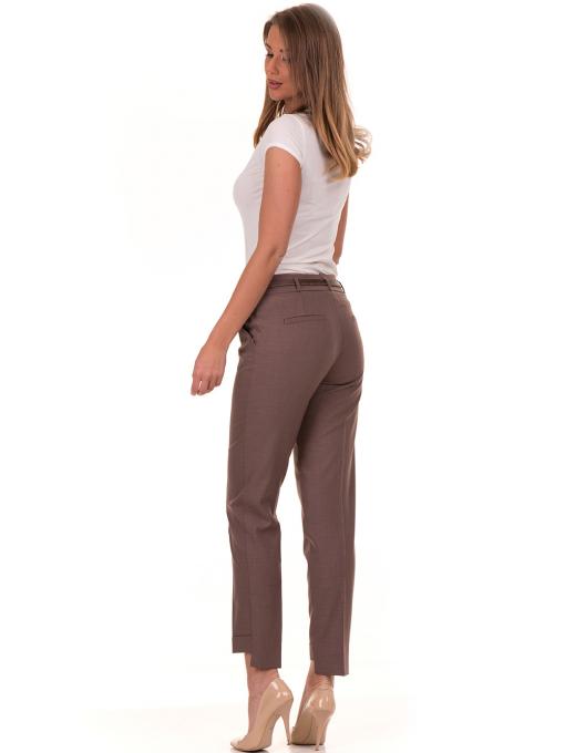 Дамски панталон F.L.M с колан 738 - цвят капучино E
