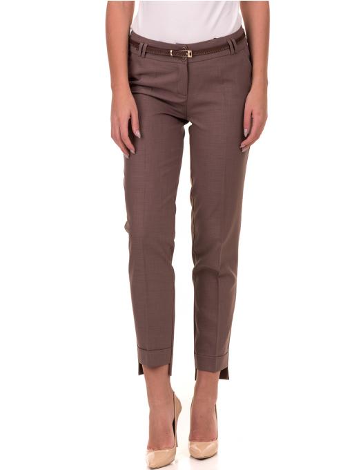 Дамски панталон F.L.M с колан 738 - цвят капучино