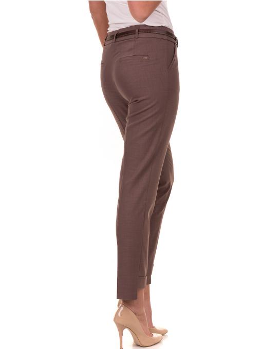 Дамски панталон F.L.M с колан 738 - цвят капучино B