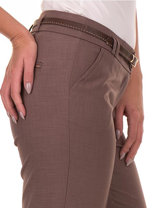 Дамски панталон F.L.M с колан 738 - цвят капучино D